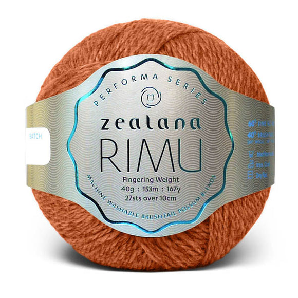 Zealana Rimu Fingering 03, Riverbank, Merino-Possum, 4ply, 40g - I Wool Knit
