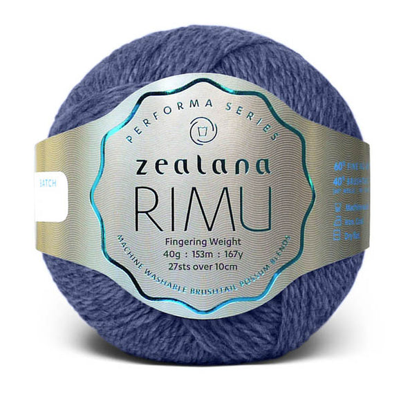 Zealana Rimu Fingering 07, Shadow, Merino-Possum, 4ply, 40g - I Wool Knit