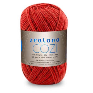 Zealana Cozi 05 sock yarn, currant, Possum, Alpaca & Merino, 4ply, 50g - I Wool Knit