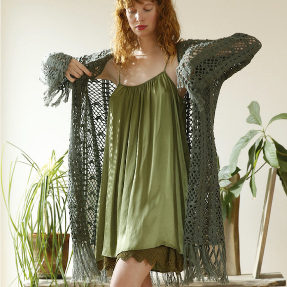 Crochet Cardigan in ggh Cottina - Rebecca Crochet Kit - I Wool Knit