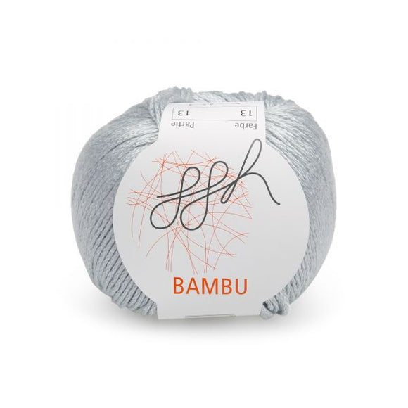 ggh Bambu 013, light grey, 100% bamboo, 50g - I Wool Knit