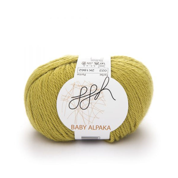 ggh Baby Alpaca Color 022, Light Mustard, 50g - I Wool Knit
