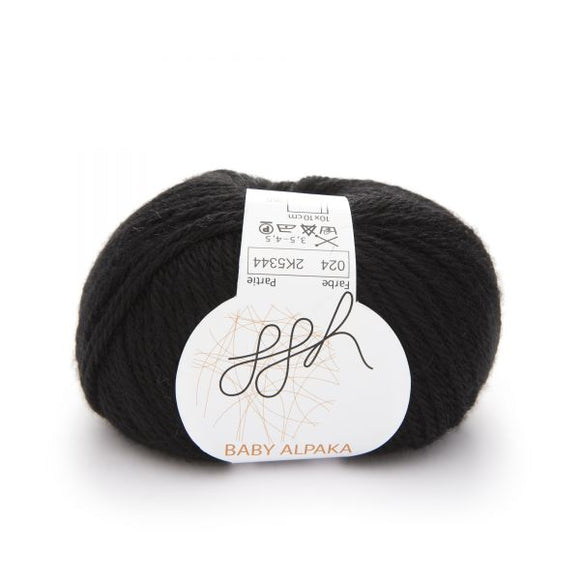 ggh Baby Alpaca Color 024, Black, 50g - I Wool Knit