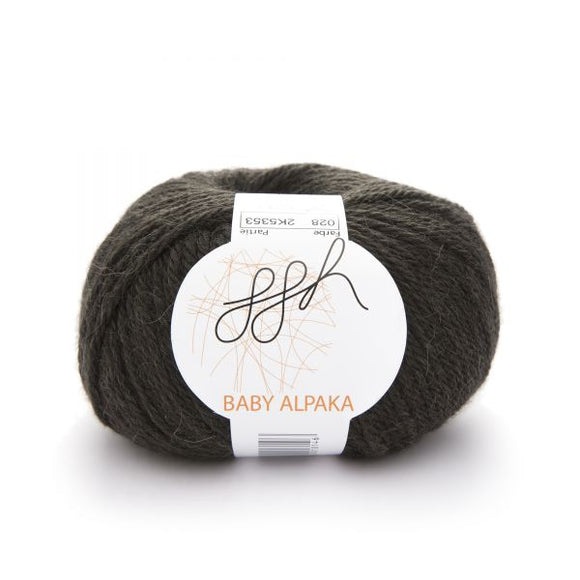 ggh Baby Alpaca Color 028, dark olive, 50g - I Wool Knit