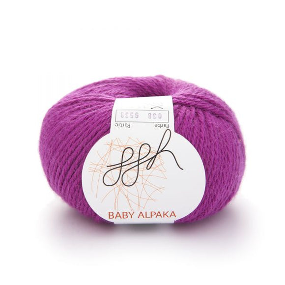 ggh Baby Alpaca Color 038, Fuchsia, 50g - I Wool Knit