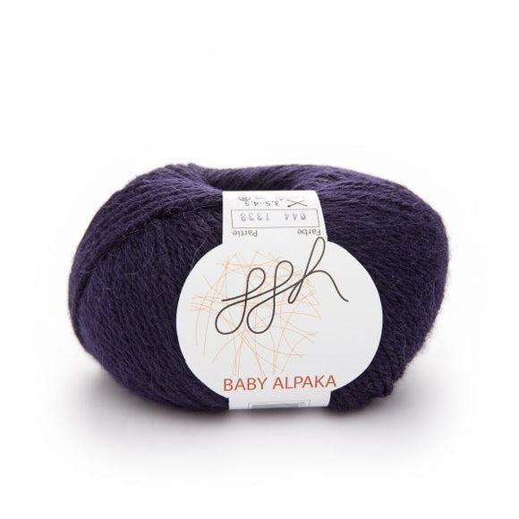 ggh Baby Alpaca Color 044, Nightblue Violet, 50g - I Wool Knit