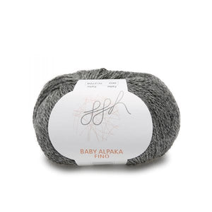 ggh Baby Alpaca Fino 002, dark grey, 25g - I Wool Knit