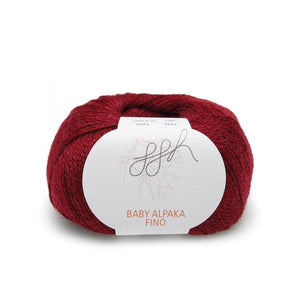 ggh Baby Alpaca Fino 007 wine red, 25g - I Wool Knit