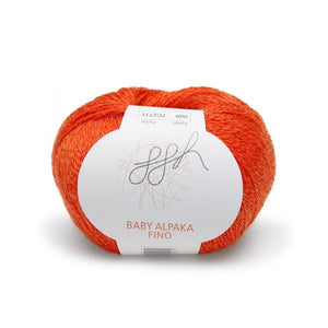 ggh Baby Alpaca Fino 009, orange, 25g - I Wool Knit