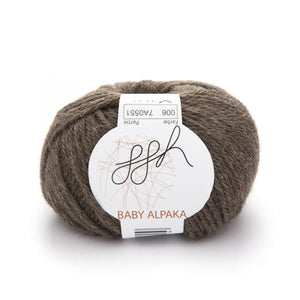 ggh Baby Alpaca Natur 006, mottled grey brown, 50g - I Wool Knit
