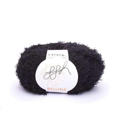 ggh, Bellina 009, Black, Terry Cotton, 8 ply, 50g, - I Wool Knit
