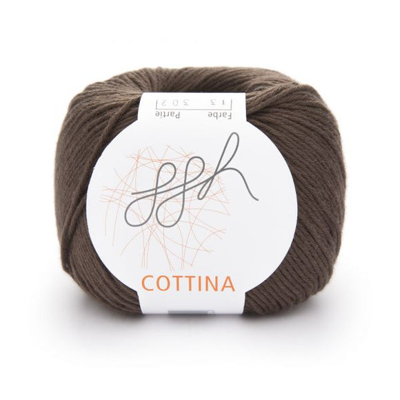 ggh Cottina 013 dark brown, 100% cotton, 8ply, 50g - I Wool Knit