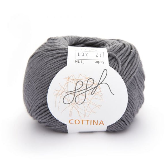 ggh Cottina 017 grey, 100% cotton, 8ply, 50g - I Wool Knit