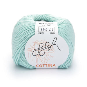 ggh Cottina 027 pale green, 100% cotton, 8ply, 50g - I Wool Knit