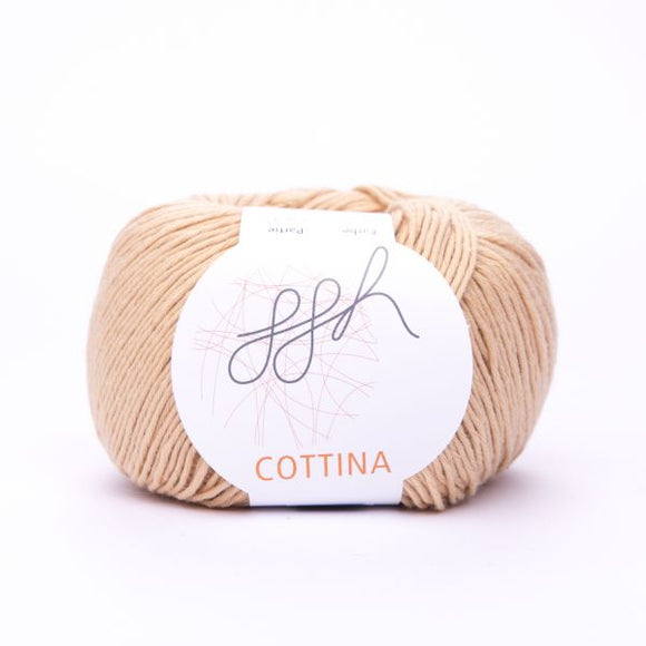 ggh Cottina 033 caramel, 100% cotton, 8ply, 50g - I Wool Knit
