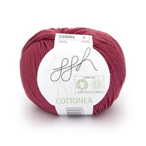 ggh Cottonea 002 red, organic cotton, 50g - I Wool Knit