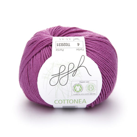 ggh Cottonea 004 dark pink, organic cotton yarn, 8ply - I Wool Knit