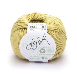 ggh Cottonea 017 mustard, organic cotton yarn, 8ply - I Wool Knit