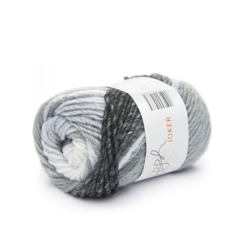 ggh Joker knitting yarn black-grey-white, I Wool Knit