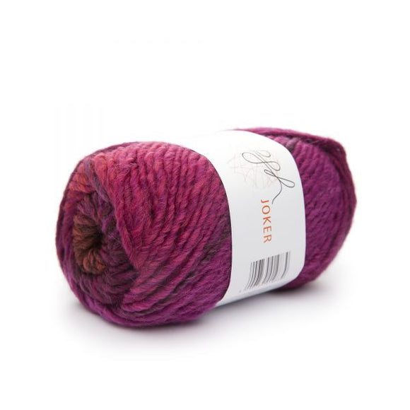 ggh Joker 006, rust - cyclamen, variegated bulky wool blend, 12 ply, 50g - I Wool Knit