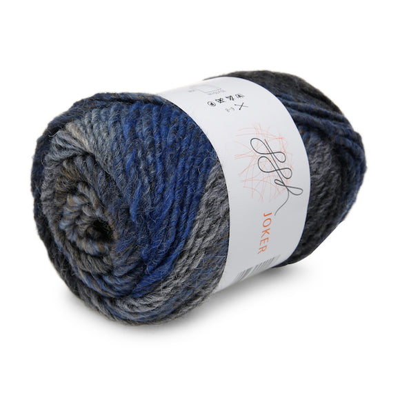 ggh Joker 026, blue-grey-beige, variegated bulky wool blend, 12ply, 50g - I Wool Knit