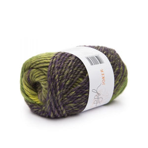ggh Joker knitting yarn, variegated olive-purple, I Wool Knit