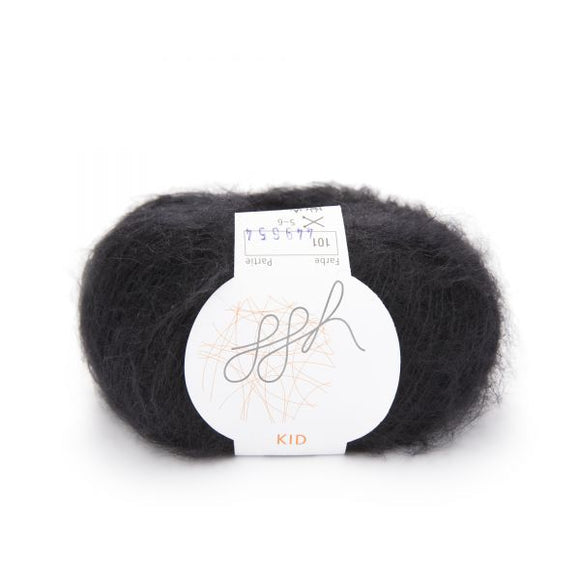 ggh Kid 101, black, super kid mohair, 25g - I Wool Knit