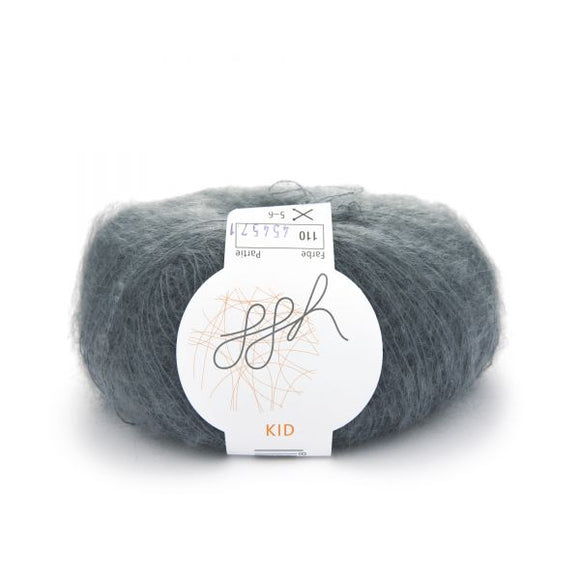 ggh Kid 110, flannel grey, super kid mohair, 25g - I Wool Knit