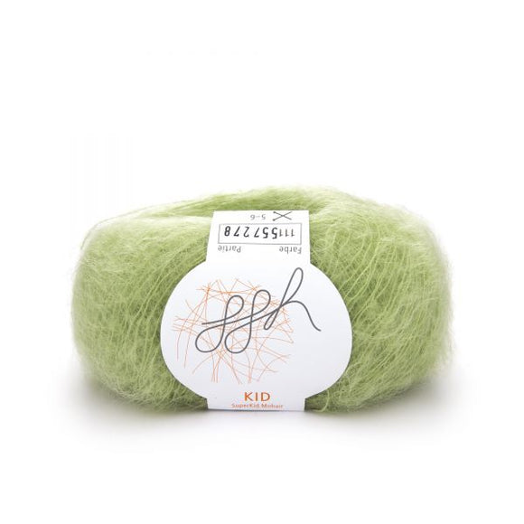 ggh Kid 111, pistacchio green, super kid mohair, 25g - I Wool Knit