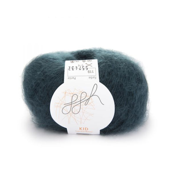ggh Kid 119, green slate, super kid mohair, 25g - I Wool Knit