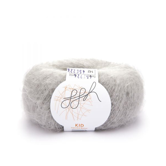ggh Kid 142, light grey, super kid mohair, 25g - I Wool Knit