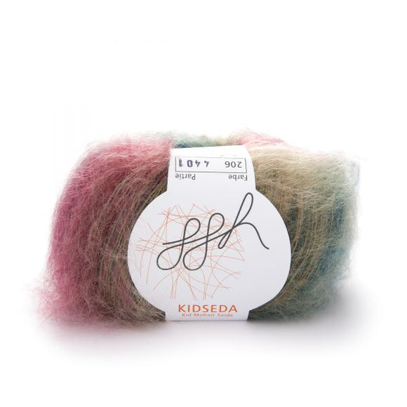 ggh Kidseda 206, turquoise-rust brown, mohair-silk, 25g - I Wool Knit