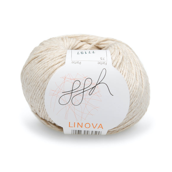 ggh Linova 075, natural, cotton-linen knitting yarn, 50g - I Wool Knit