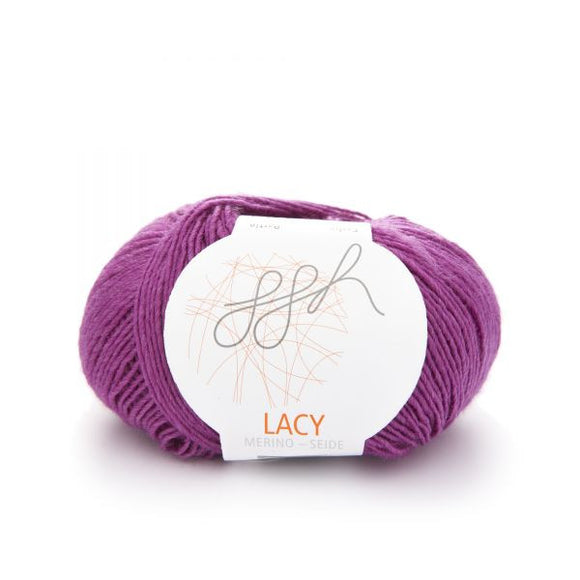 ggh Lacy 012 cyclam, Merino wool and silk knitting yarn, 25g - I Wool Knit