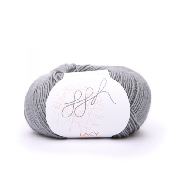ggh Lacy 020 grey, Merino wool and silk knitting yarn, 25g - I Wool Knit