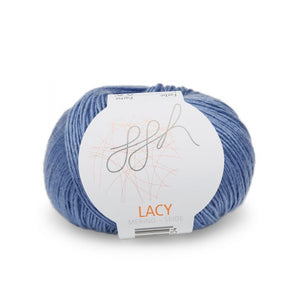 ggh lacy 021 blue, Merino and silk knitting yarn - I Wool Knit