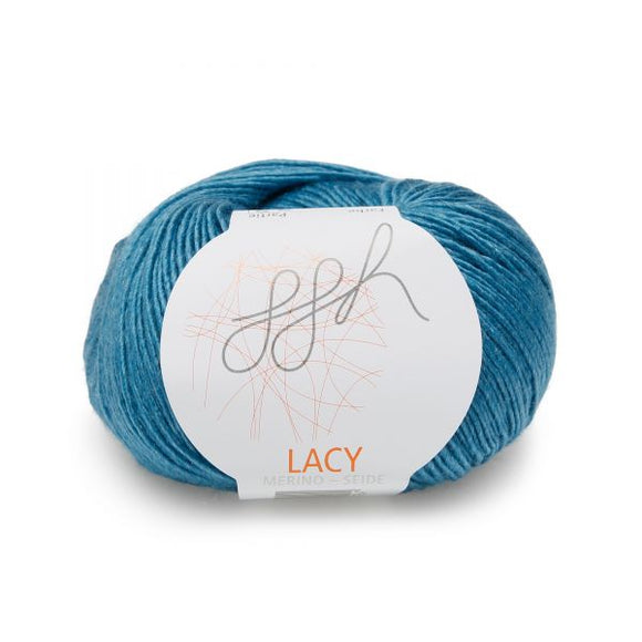 ggh lacy 022 turquoise, Merino and silk knitting yarn - I Wool Knit