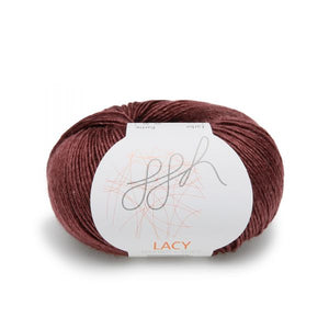 ggh lacy 023 aubergine, Merino and silk knitting yarn - I Wool Knit