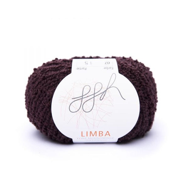 ggh Limba 007, dark Bordeaux, Merino wool bouclé yarn, 50g - I Wool Knit