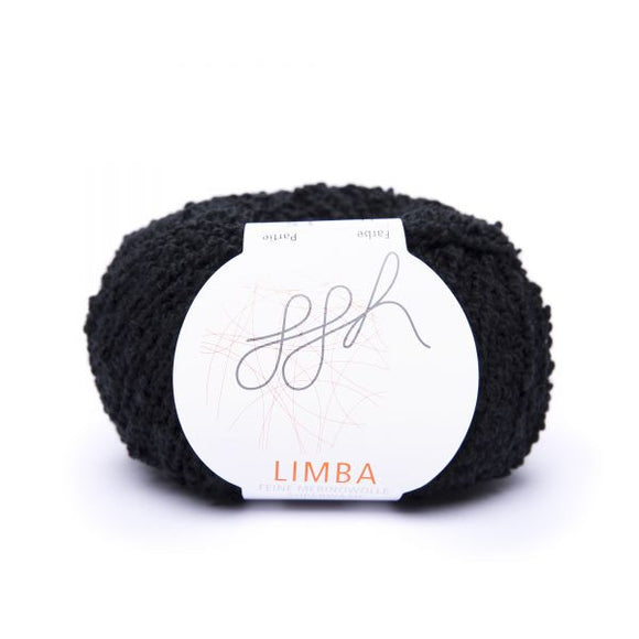 ggh Limba 011, black, Merino wool bouclé yarn, 50g - I Wool Knit