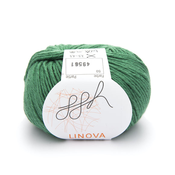 ggh Linova. Linen & cotton knitting yarn. I Wool Knit