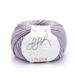 ggh Linova 069, lilac, cotton-linen knitting yarn, 50g - I Wool Knit