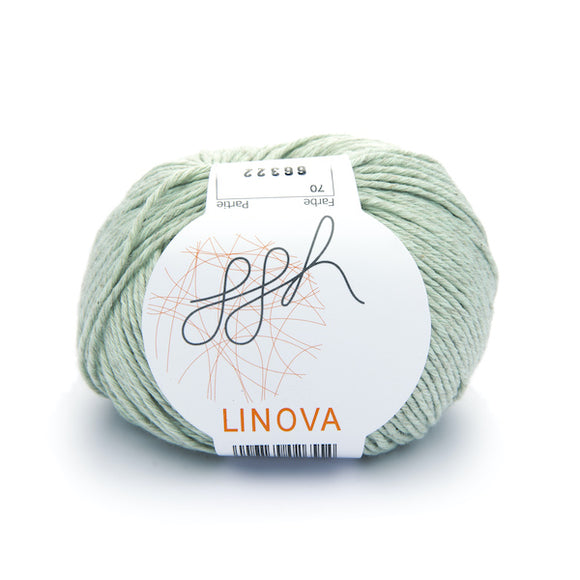 ggh Linova 070, pale lind green, cotton-linen knitting yarn, 50g - I Wool Knit