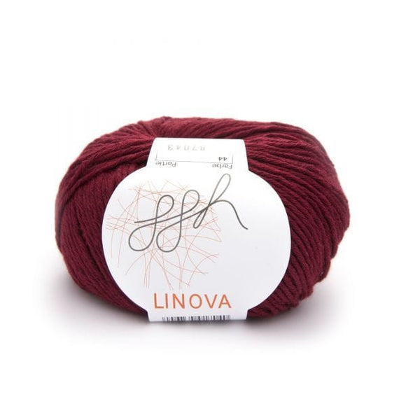 ggh Linova 044, brick red, cotton-linen knitting yarn, 50g - I Wool Knit