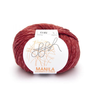 ggh Manila 005, red, Cotton, Linen & Viscose blend, 50g, - I Wool Knit