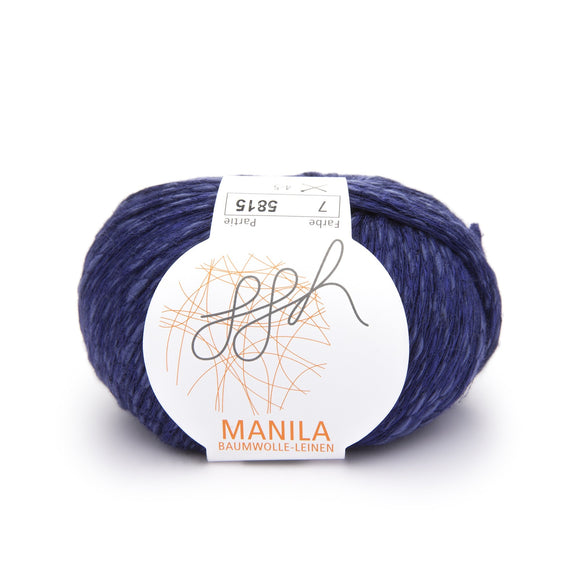 ggh, Manila 007, Dark blue, Cotton, Linen & Viscose blend, 50g, - I Wool Knit