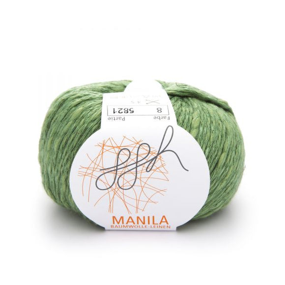 ggh Manila 008, reed green, Cotton, Linen & Viscose blend, 50g, - I Wool Knit