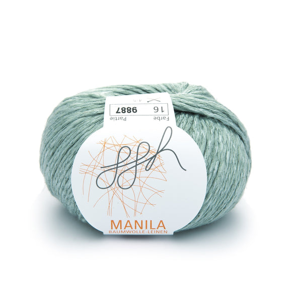 ggh Manila 016, Mint green, Cotton, Linen & Viscose blend, 50g, - I Wool Knit