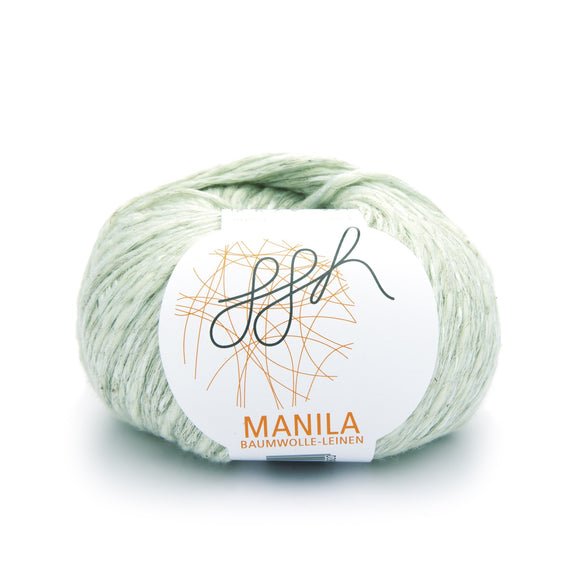 ggh Manila 022, pale lind green, Cotton, Linen & Viscose blend, 50g, - I Wool Knit
