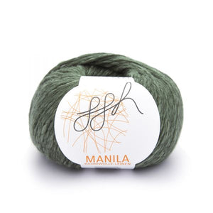 ggh Manila 023, olive, Cotton, Linen & Viscose blend, 50g, - I Wool Knit